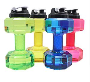Bottiglia di acqua di Dumbbell di grande capacità per la bottiglia di sport di forma fisica di sport della palestra delle perdite di forma fisica di sport all'aperto