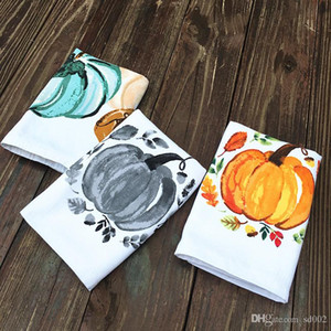 Cartoon Pumpkin Tea Towel Cotton Home Kitchen Paño de limpieza Multi Style Lovely Halloween Holiday Impreso Dish Towels 6 1ad ii