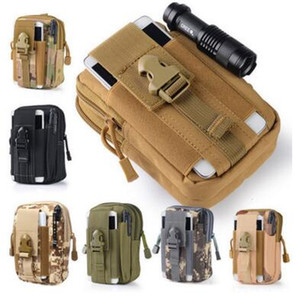 Universal Outdoor Tactical Holster Military Molle Hip Waist Belt Bag Wallet Pouch Purse Phone Case with Zipper For Cell Phone