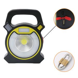 30W COB LED Proyector portátil Reflector USB recargable de mano de trabajo Luz de alimentación Por 18650 linterna portátil para acampar