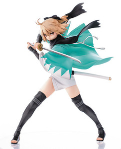 1pcs 24,5 centimetri pvc anime giapponesi figura Aquamarine Fate sciabola Okita Souji ver action figure giocattolo modello da collezione brinquedos