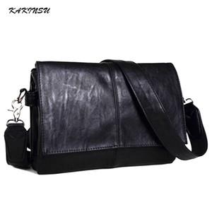 2018New Vintage Men Briefcase Genuine Leather Men Messenger Bags Fashion Male Tote Bags Leather Business Men Bag Bolsos de hombro