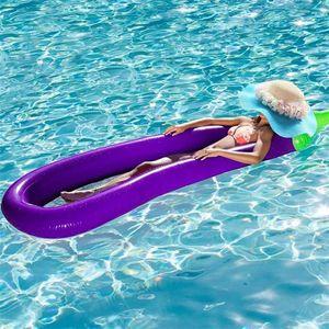 270 см супер негабаритных бассейн с плавающей площадкой высокой плотности безвредные надувные баклажаны поплавки для воды дрейфующих ПВХ летний пляж плавать кольцо 58yn х