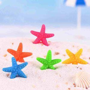 Stile mediterraneo Colorato Sea Star Resina Starfish Materiale fai da te Moss Terrario Micro paesaggio Ornamenti per acquario Fata Decorazione del giardino