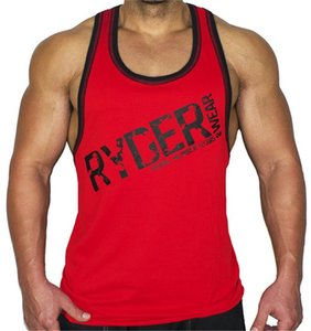 Los más nuevos hombres Summer Gyms Fitness Bodybuilding Tank Top sin mangas Moda para hombre Crossfit Ropa Suelta transpirable sin mangas Camisas Chaleco