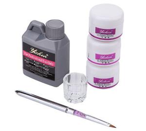 도매 최고 품질 휴대용 네일 아트 도구 키트 세트 크리스탈 파우더 아크릴 액체 튐 펜 접시 무료 배송