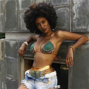 Costume da bagno donna Costumi da bagno Lady Bikini Femme Stampa africana Abiti due pezzi Bath Sexy Geometric High Waist Gold 20zy V
