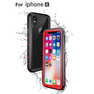 Su geçirmez Kılıf iphone X 8 8 artı Sualtı Yüzme Dalış Telefon Kılıfı için iphone 6 6 S PC için Tamamen Mühürlü Snowproof IP68 Cep Telefonu Kılıfları
