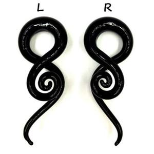 1 par Pyrex Glass Ear Espiral Taper Gauge Ear Expander Camilla Flesh Tunnel Piercing