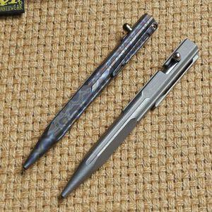 اثنين الشمس التيتانيوم الحفر رود التكتيكي القلم التخييم الصيد outdoors بقاء العملي أدوات edc متعددة أداة الكتابة الأقلام