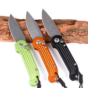 Ludt триколор быстро открытым нож Горизонтальное раскрытие одного действия D2 лезвие тактический самообороне складной нож EDC Походный нож охотничьи ножи