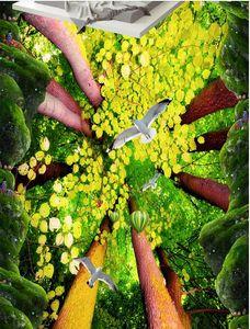 пользовательские фото фрески Скала лес листва птица Кухня Кухня дорожка 3D пол обои для гостиной