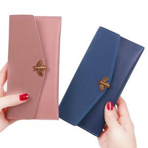 Kadın Cüzdan Bayan Çanta Fermuar Sikke çanta Kartları Tutucu Zarf Arı Para Çantaları Debriyaj Kadın Bal Arısı Çantalar Cep Cüzdan