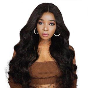 ZhiFan 26 дюймов длинные Бальк естественный цвет большая волна кружева перед парики для черная женщина средней части стиль