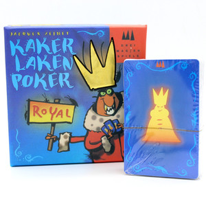 5 خيارات بطاقات مضحكة لعبة Kakerlaken Salat / Poker / Royal / Suppe / Mogel Motte Board Game Family Party Cockroach Game داخلي
