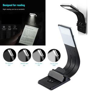 Портативный светодиодный свет для чтения книг со съемным гибким зажимом USB аккумуляторная лампа для Kindle / электронных книг
