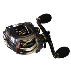 Venta caliente Fishdrops LB200 Fishing Reel GT 7.0: 1 Carrete de cebo Carretes Izquierda Derecha Pesca One Way Embrague Baitcasting Reel