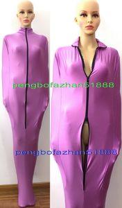 Sexy Body Bags Unisex Mummia Costumi Outfit New Purple Lycra Spandex Mummia Suit Costumi Unisex Sleeping Bags Con Manicotti interni P307