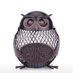 Saving Money Box Piggy Bank Owl Figurine Metal Moneybox Storage Coin Boxs Home Decoration Handcrafts Crafts Christmas Gift For Children