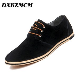 DXKZMCM Men Leather Shoes  Handmade Casual Comfortable Formal Dress Shoes Men Flats