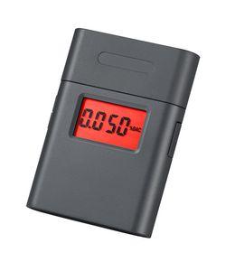 Mini medidor de alcohol digital con boquilla giratoria de 360 grados / probador de aliento de alcohol de pantalla dual AT-838 10PCS / LOT