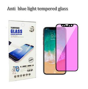 Protecteur d'écran en verre trempé 2.5D 9H résistant à la lumière bleue anti-lumière pour iphone X 7 8 PLUS ET XR XS MAX arrive