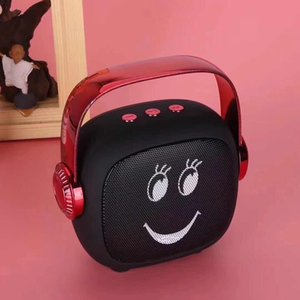 Cheap Carry Altoparlante senza fili portatile smiley Subwoofer Altoparlanti Mini Altoparlanti Bluetooth Outdoor Hi-Fi Box Supporto TF card Radio FM