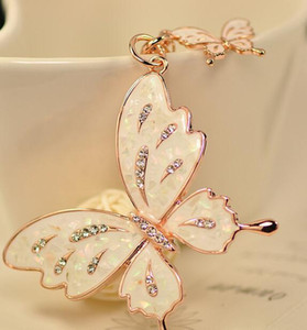 Butterfly Lovers Car keychain bags buckle key ring women bag key chain, 2 Style , Free Shipping