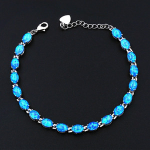 Ocean Blue Pearly White Cosmic Black Opal Bracelet with Japanese Lab Created Opal C18111601
