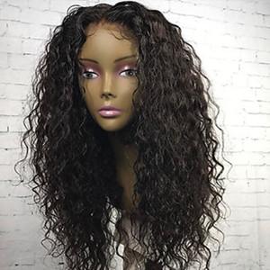 360 레이스 정면 가발 130 % 밀도 전체 레이스 블랙 여성을위한 인간의 머리가 발 브라질 머리 레이스 가발 곱슬 머리 곱슬 머리