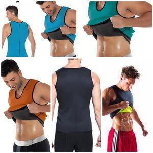 Sıcak Erkekler Zayıflama Yelek Vücut Şekillendirici Neopren Karın Yağ Yakma Shaperwear Bel Ter Korse Kilo Kaybı S-5XL