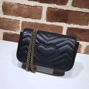 2018 Yeni Ünlü moda marka kadınlar M serisi kapak omuz çantası yüksek kaliteli deri mini debriyaj çanta logo mektup pin logo lüks çanta