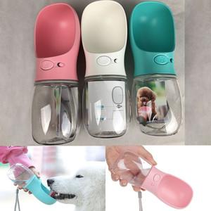 Pet Dog Water Bottle Pet Supplies Cane Gatto Bere Alimentatore Tazza di acqua In viaggio all'aperto 350ML 550ML In confezione al dettaglio WX9-724