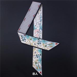 Tarot série double double twill imprimé contraignant poignée sac écharpe en soie mince ruban foulard femme