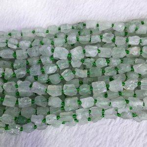 Natural Genuine Raw Mineral Montanha Verde Fvchsite Phanton Quartzo Mão Corte Nugget Forma Livre Solto Áspero Fosco Contas Facetadas 5-7mm 05370