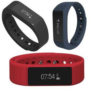 I5 Além disso Inteligente Wirstband pulseira relógio Bluetooth 4.0 Caller ID mensagem de lembrete de Fitness Rastreador Assista Passometer sono Monitor de Smartband