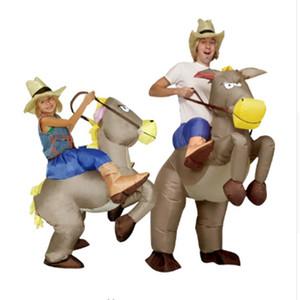 Costume gonflable de dinosaure de cow-boy Montez à cheval sur la déguisement de fête habillez-vous des costumes de Halloween pour des femmes