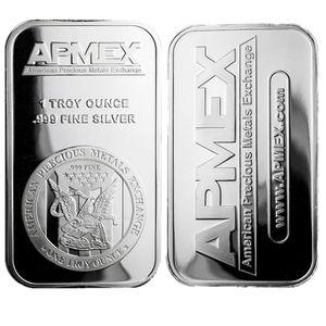 1 oz argenture Art Series Bar + fin Apmex reverse eagle Silver Bullion Coin libre expédition 5pcs / lot 1 oz Non Bar magnétique cadeau d'affaires