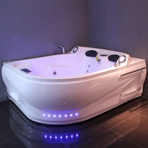 Foshan factory Manufacture 100% Pure Acrylic Luxury Idromassaggio Baignoire Couple Use Sexy 2 Person Double Massage Bathtub