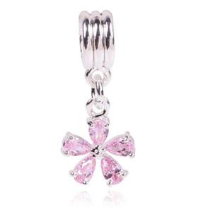 Rose Argent Couleur Perle Fit Pandora Original Bracelet Femmes Bijoux DIY Faire Cadeau De Luxe Femmes Bijoux Livraison Gratuite