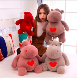 Lovely 100% new toy about cosplay cartoon simulation hippo stuffed animal plush toy doll Christmas gift