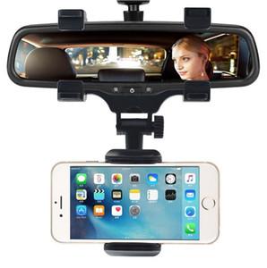 Recém titular do telefone do carro espelho retrovisor do carro montar titular do telefone 360 graus para iphone samsung huawei gps smartphone stand universal (varejo)