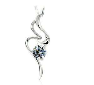 Gorgeous Fire Dance 925 Sterling Silver White Gold Color Synthetic Diamonds Pendant 925 Necklace Fancy Birthday Jewelry Gift