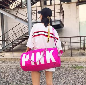 Спорт открытый пакеты розовое письмо вещевые мешки организатор большой розовый Мужчины Женщины дорожная сумка водонепроницаемый повседневная пляж упражнения сумки для багажа