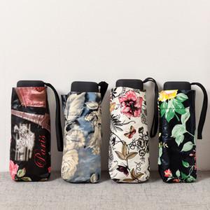 Cinco-folding mini-guarda-chuva meninas super light uv proteção lápis de bolso mulheres guarda-chuvas pequeno telefone paraguas frete grátis