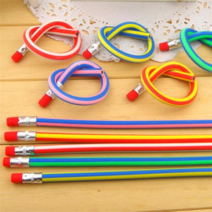 5pcs Korea Cute Stationery Bunte Magic Bendy Flexible Soft Nicht gebrochen Bleistift mit Radiergummi Student School Office verwenden