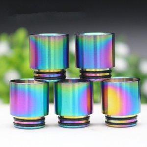 810 Drip Tips Arcobaleno color acciaio inossidabile SS Drip Tip per filetto 810 Foro largo Bocchino TFV8 TF12 Prince Atomizzatore