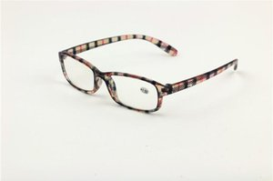 Wholesale Good Quality Olders Cheap Comfortable Reading Glasses Simple Colorful Plastic Frame With Power Lenses 10pcs lot