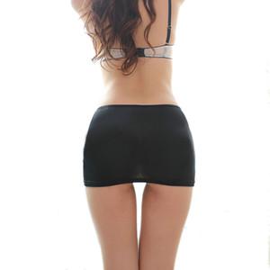 Bayanlar Sıcak Bodycon Bandaj Elastik Etek Mikro Mini Ganimet Erotik Düşük Bel Clubwear Gece Kulübü Seksi Giyim Beyaz / Siyah