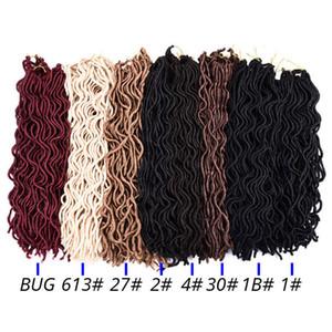 Goddess Faux Locs Волнистые косички из натурального синтетического плетения для наращивания волос 24 стойки / упак. Goddess Faux Locks Hair